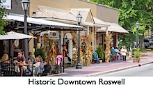 Historic Downtown Roswell in North Fulton County