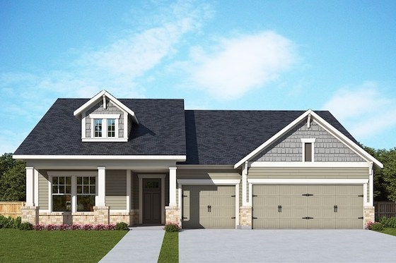 New Homes in Flowery Branch, Georgia built by David Weekley Homes in The Retreat at Sterling on the Lake, an Active Adult 55+ New Home Community!